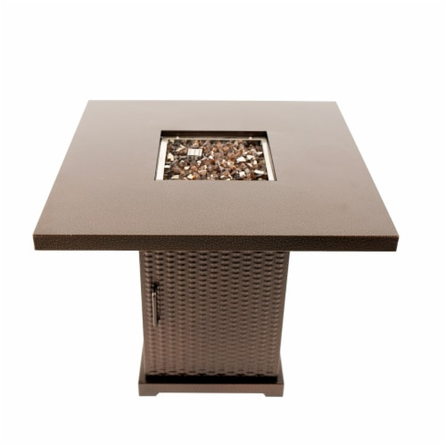Pleasant Hearth Warren Gas Fire Pit Table Perspective: front