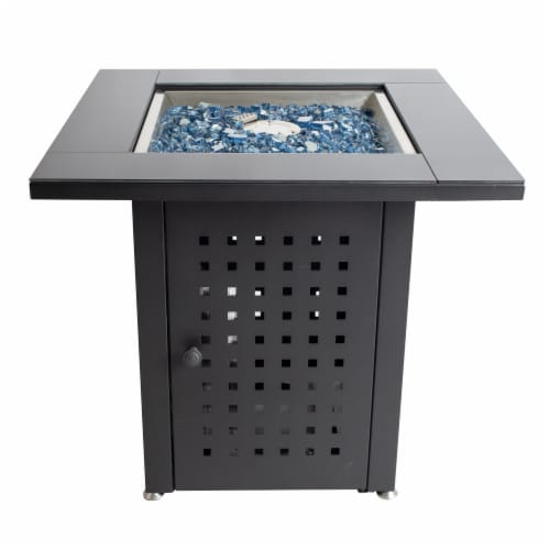Pleasant Hearth Lockwood Gas Fire Pit Table Perspective: front