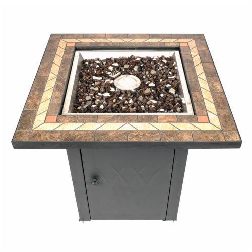 Pleasant Hearth Atlantis Gas Fire Pit Table Perspective: front