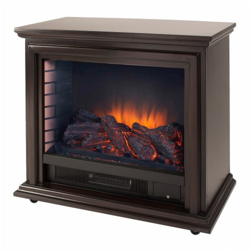 Pleasant Hearth Sheridan Mobile Infared Fireplace - Espresso Perspective: front