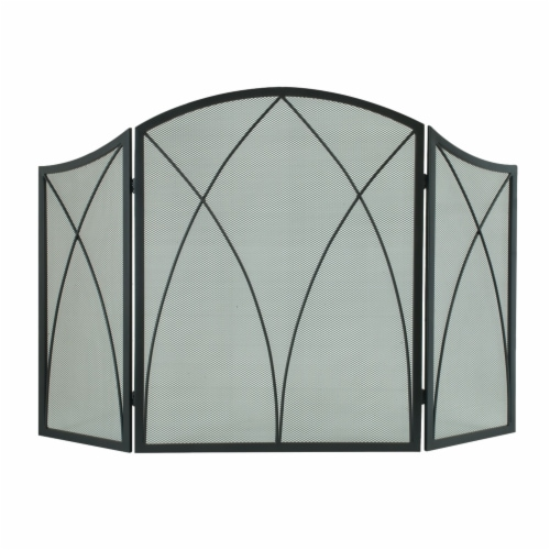 Pleasant Hearth Arched Fireplace Screen Perspective: front