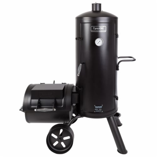 Dyna-Glo Signature Series Heavy-Duty Vertical Offset Charcoal Smoker and Grill Perspective: front