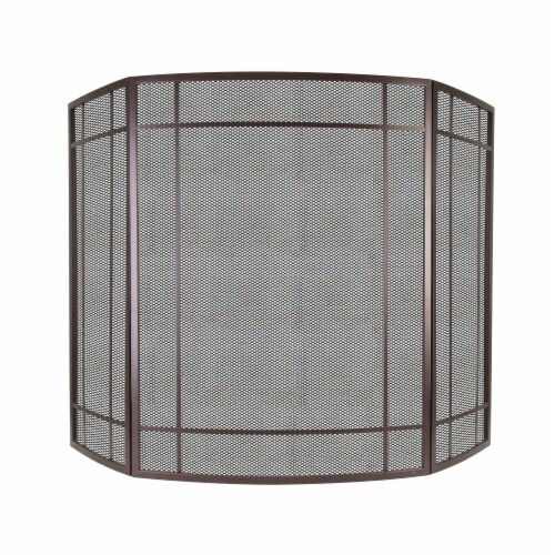 Pleasant Hearth Asteria Fireplace Screen - Brown Perspective: front