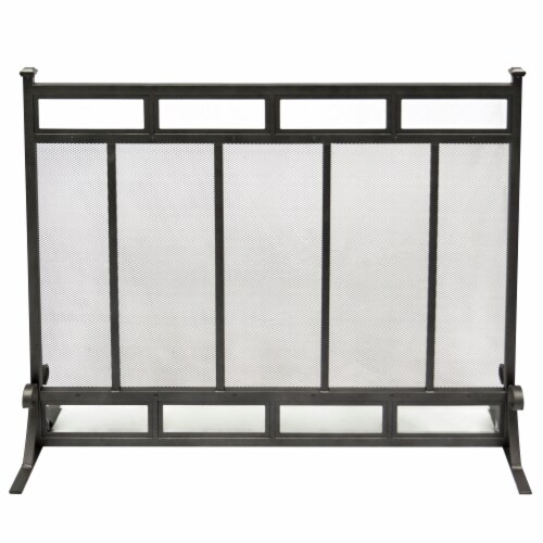 Pleasant Hearth Atticus Fireplace Screen Perspective: front
