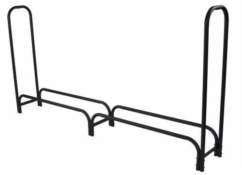 Pleasant Hearth Log Rack - Black Perspective: front