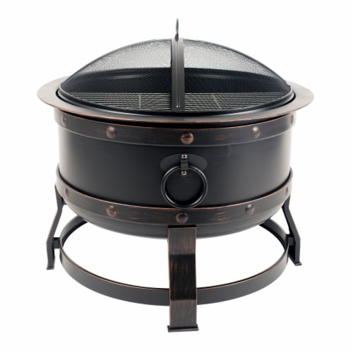 Pleasant Hearth Killian Fire Pit Perspective: front