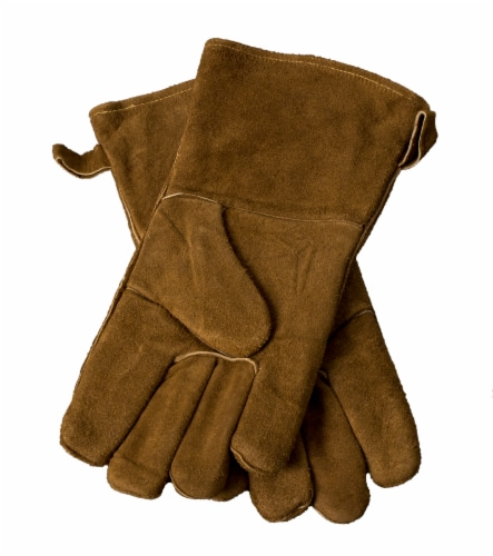 Pleasant Hearth Fireplace Gloves - Brown Perspective: front
