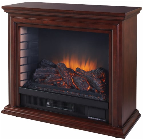 Pleasant Hearth Sheridan Mobile Infrared Fireplace - Cherry Perspective: front