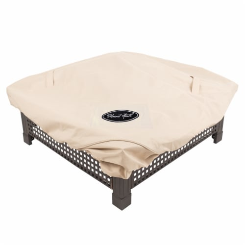 Pleasant Hearth Medium Square Fire Pit Cover Perspective: front