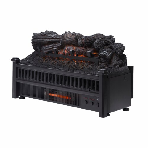 Pleasant Hearth Electric Log Insert with Removable Fireback and Heater Perspective: front