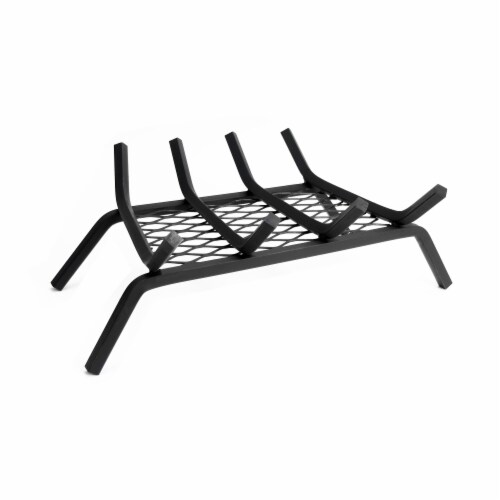 Pleasant Hearth Four Bar Steel Log Grate with Ember Retainer Perspective: front