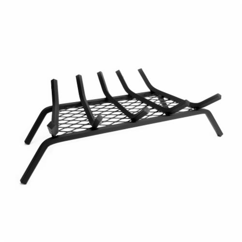 Pleasant Hearth 5-Bar Steel Log Grate with Ember Retainer Perspective: front