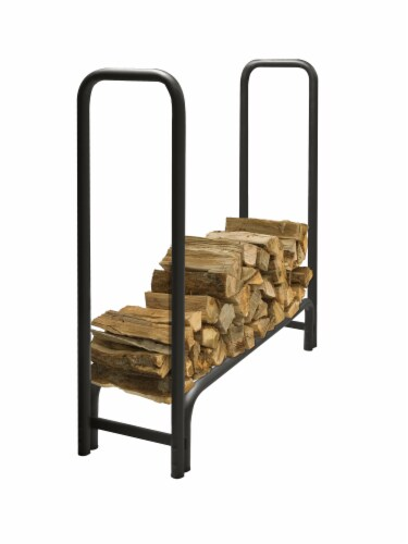 Pleasant Hearth Heavy Duty Log Rack - Black Perspective: front