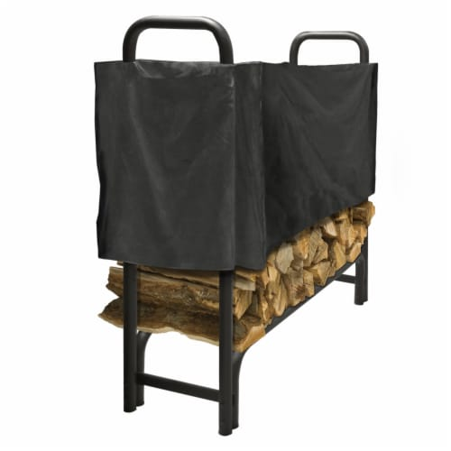 Pleasant Hearth Polyester Half-Length Log Rack Cover - Black Perspective: front