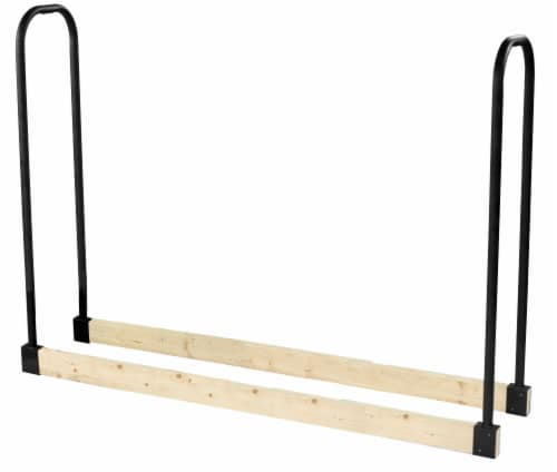 Pleasant Hearth Adjustable Log Rack -  Black Perspective: front