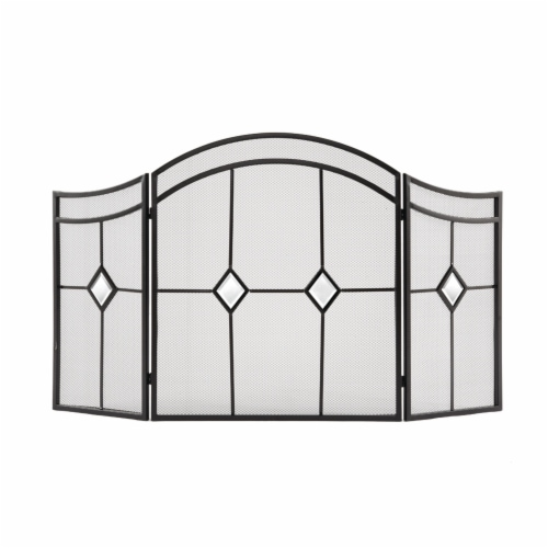 Pleasant Hearth Diamond Fireplace Screen - Espresso Perspective: front