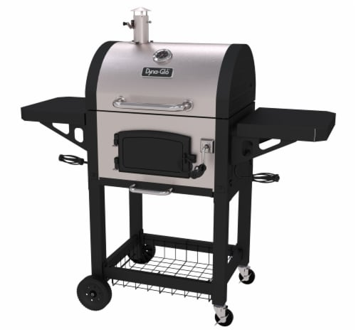 Dyna-Glo Heavy-Duty Compact Charcoal Grill - Stainless Perspective: front
