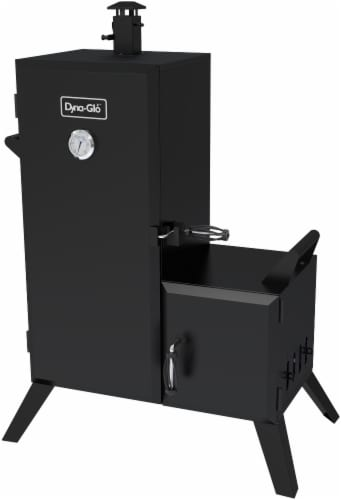 Dyna-Glo Vertical Offset Charcoal Smoker Perspective: front