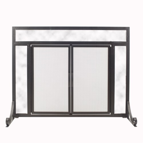 Pleasant Hearth Manchester Petite Fireplace Screen Perspective: front