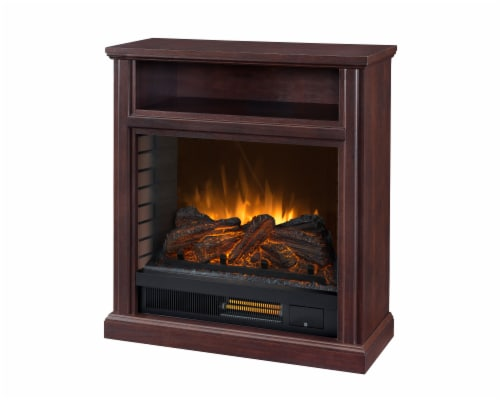 Pleasant Hearth Parkdale Mobile Infrared Media Electric Fireplace - Cherry Perspective: front