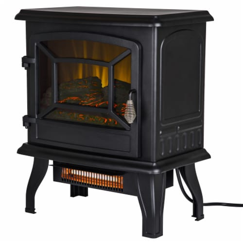 Pleasant Hearth Infrared Electric Stove with 2-Stage Heater Perspective: front