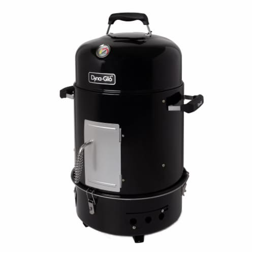 Dyna-Glo Compact Charcoal Bullet Smoker - High Gloss Black Perspective: front