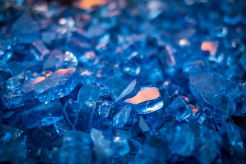 Pleasant Hearth Tempered Glass Rocks - Blue Perspective: front