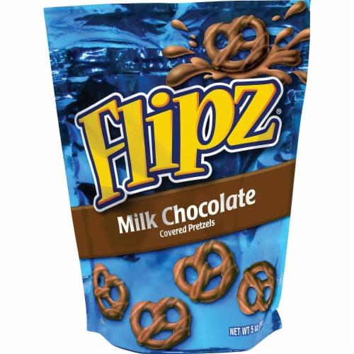 Flipz Milk Chocolate Covered Pretzel, 5 Ounce -- 6 per case. Perspective: front