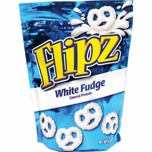 Flipz White Fudge Covered Pretzel, 5 Ounce -- 6 per case. Perspective: front
