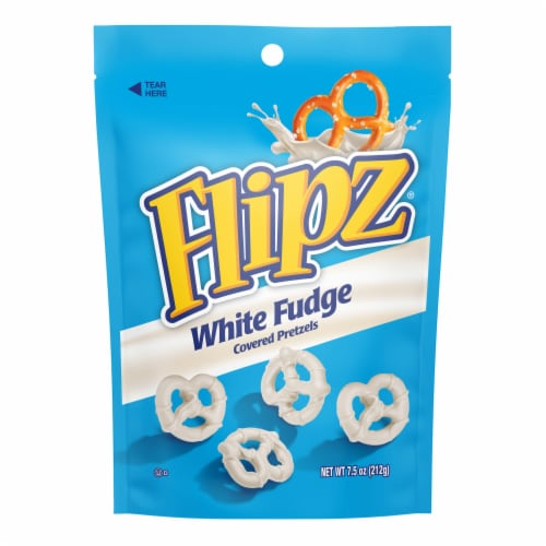 Flipz White Fudge Covered Pretzels Perspective: front
