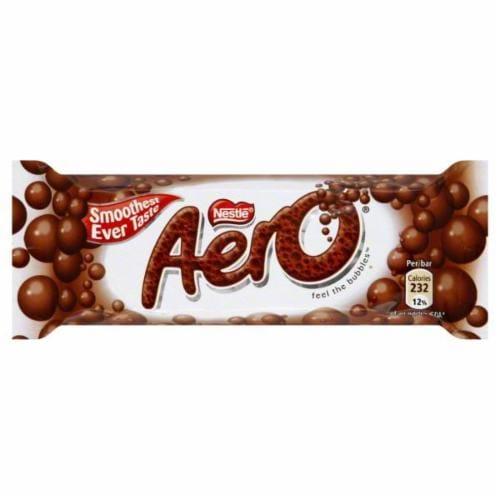 Nestle Aero Milk Chocolate Bar Perspective: front