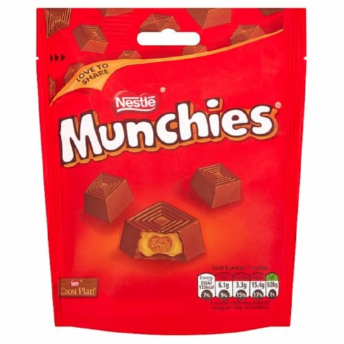 Nestle Munchies Chocolate Candy Perspective: front