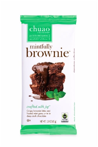 Chuao Chocolatier Mintfully Brownie Bites Perspective: front