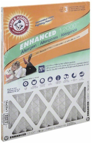 Arm and Hammer™ Enhanced 12000™ Allergen Air Filter Perspective: front