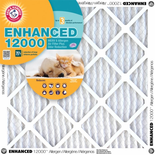 Arm and Hammer Enhanced 12000 Allergen Air Filter Perspective: front