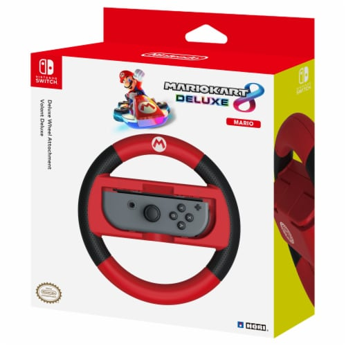 Hori Deluxe Wheel Attachment for Nintendo Switch - Red Perspective: front
