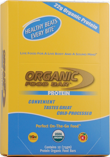 Organic Food Bar Protein Bar Perspective: front
