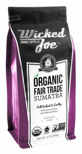 Wicked Joe  Organic Ground Coffee Medium Roast   Sumatra Perspective: front