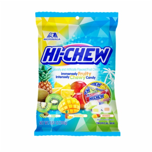 Hi-Chew Tropical Mix Fruit Flavored Chews Perspective: front