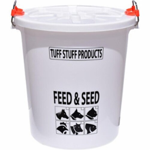 Tuff Stuff Products 458168895 FS26 26.5 gal Feed & Seed Storage with Lid Perspective: front