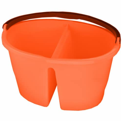 Tuff Stuff Products OB17OR 17 qt. Oval 2-in-1 Utility Bucket, Orange Perspective: front