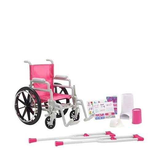 """Be My Girl 18"""" Doll Wheelchair Playset Perspective: front"""