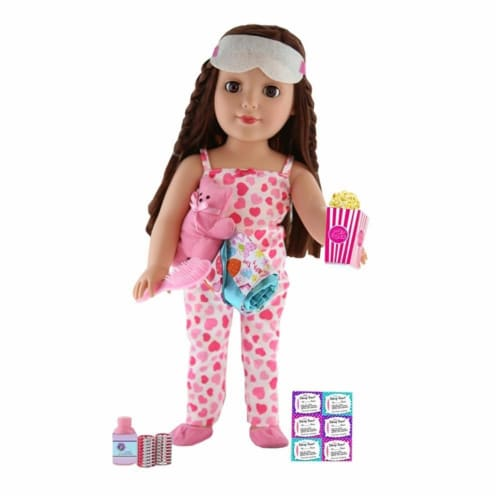 "Be My Girl 18"" Doll Slumber Party Set Perspective: front"