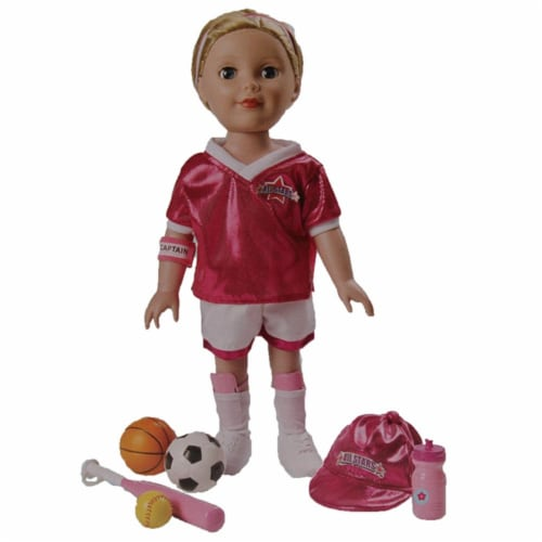 "Be My Girl 18"" Doll All Star Sport Fashion Playset Perspective: front"