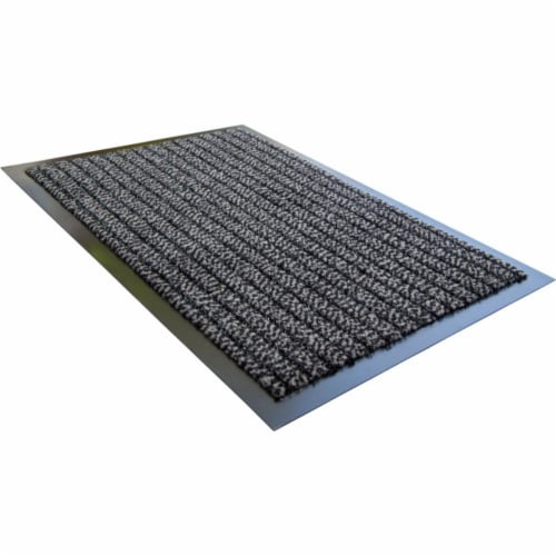 Floortex FR43248ULTGY Doortex Ultimat 32 x 48 in. Rectangular Indoor Entrance Mat, Gray Perspective: front