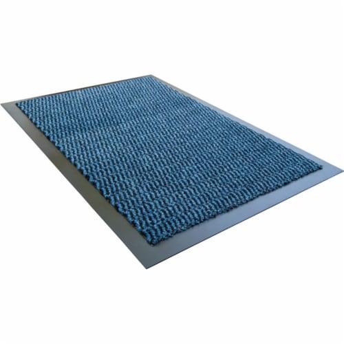 Floortex FR49180DCBLV Doortex Advantagemat 48 x 70 in. Rectangular Indoor Entrance Mat, Blue Perspective: front