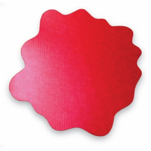 40  x 40  Multipurpose Mat For Hard Floor in Red Perspective: front