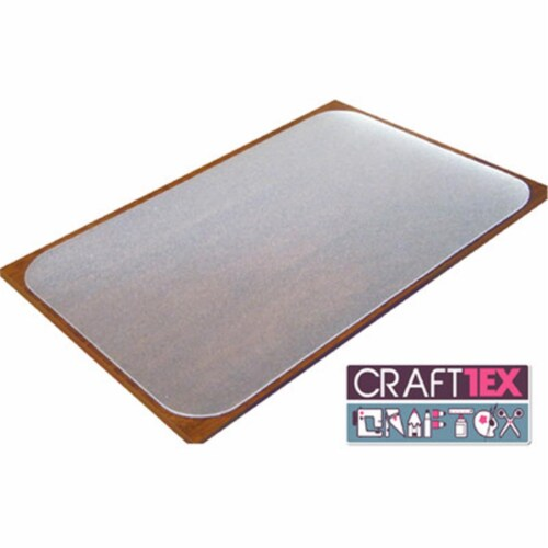Floortex FRCR2036RA1 20 x 36 in. Ultimate Polycarbonate Table Protector with Anti Slip Coatin Perspective: front