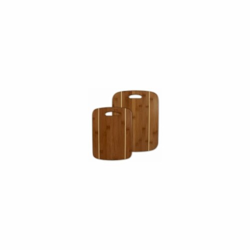 Totally Bamboo 2 Pieces Stripe Cutting Board Set Perspective: front