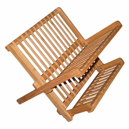 Totally Bamboo 20-8517 Bamboo Dish Rack Perspective: front